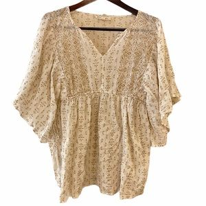 Jessica Simpson Maternity Blouse V-Neck Printed M